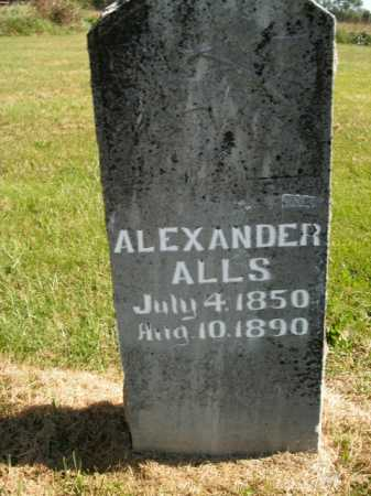 ALLS, ALEXANDER - Boone County, Arkansas   ALEXANDER ALLS - Arkansas Gravestone Photos
