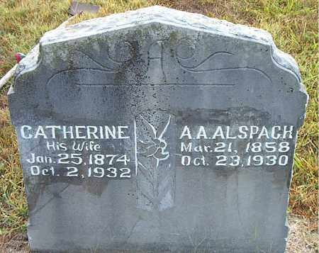 ALSPACH, CATHERINE - Boone County, Arkansas | CATHERINE ALSPACH - Arkansas Gravestone Photos