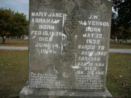ABRAHAM ALVERSON, MARY JANE - Boone County, Arkansas | MARY JANE ABRAHAM ALVERSON - Arkansas Gravestone Photos