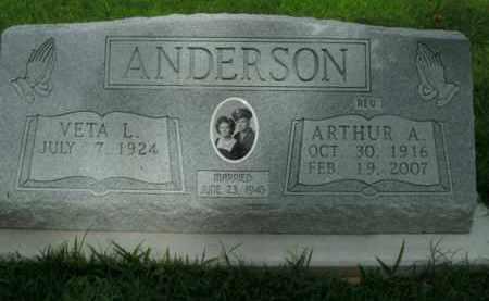 ANDERSON, ARTHUR A. - Boone County, Arkansas   ARTHUR A. ANDERSON - Arkansas Gravestone Photos