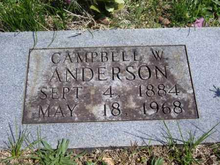 ANDERSON, CAMPBELL W. - Boone County, Arkansas   CAMPBELL W. ANDERSON - Arkansas Gravestone Photos