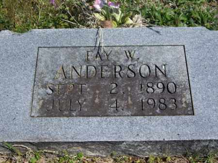 ANDERSON, FAY W. - Boone County, Arkansas | FAY W. ANDERSON - Arkansas Gravestone Photos
