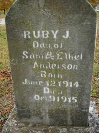 ANDERSON, RUBY J. - Boone County, Arkansas | RUBY J. ANDERSON - Arkansas Gravestone Photos
