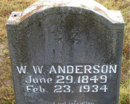 ANDERSON, W. W. - Boone County, Arkansas   W. W. ANDERSON - Arkansas Gravestone Photos