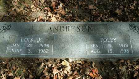 ANDRESON, LOIS J. - Boone County, Arkansas   LOIS J. ANDRESON - Arkansas Gravestone Photos