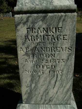 ARMITAGE ANDREWS, FRANKIE - Boone County, Arkansas | FRANKIE ARMITAGE ANDREWS - Arkansas Gravestone Photos