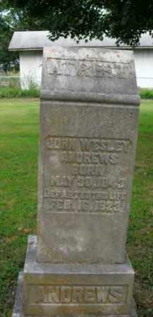 ANDREWS, JOHN WESLEY - Boone County, Arkansas   JOHN WESLEY ANDREWS - Arkansas Gravestone Photos