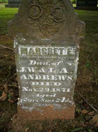 ANDREWS, MARGRET E. - Boone County, Arkansas | MARGRET E. ANDREWS - Arkansas Gravestone Photos