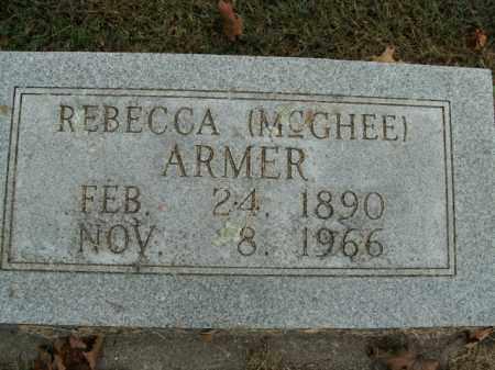 MCGHEE ARMER, REBECCA - Boone County, Arkansas | REBECCA MCGHEE ARMER - Arkansas Gravestone Photos