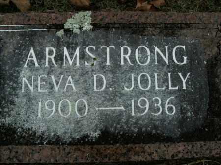 JOLLY ARMSTRONG, NEVA D. - Boone County, Arkansas | NEVA D. JOLLY ARMSTRONG - Arkansas Gravestone Photos