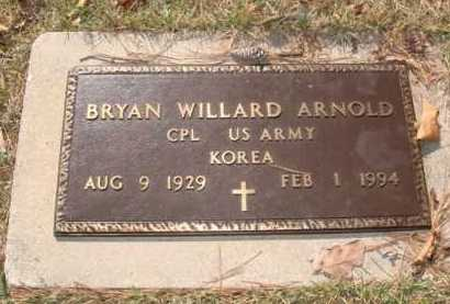 ARNOLD  (VETERAN KOR), BRYAN WILLARD - Boone County, Arkansas | BRYAN WILLARD ARNOLD  (VETERAN KOR) - Arkansas Gravestone Photos