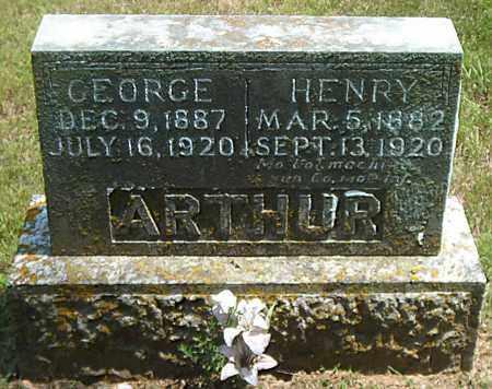 ARTHUR, GEORGE - Boone County, Arkansas   GEORGE ARTHUR - Arkansas Gravestone Photos