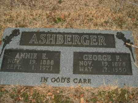 ASHBERGER, ANNIE ETHEL - Boone County, Arkansas | ANNIE ETHEL ASHBERGER - Arkansas Gravestone Photos