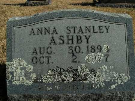 STANLEY ASHBY, ANNA - Boone County, Arkansas   ANNA STANLEY ASHBY - Arkansas Gravestone Photos