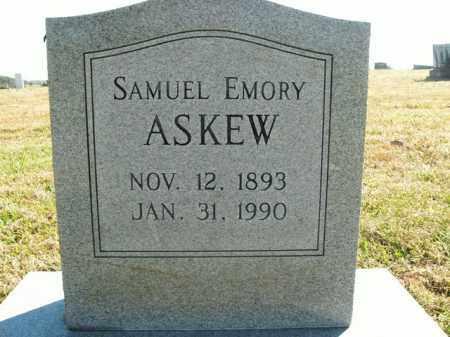 ASKEW  (VETERAN WWI), SAMUEL EMORY - Boone County, Arkansas   SAMUEL EMORY ASKEW  (VETERAN WWI) - Arkansas Gravestone Photos