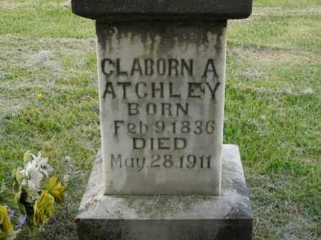 ATCHLEY, CLABORN A. - Boone County, Arkansas   CLABORN A. ATCHLEY - Arkansas Gravestone Photos