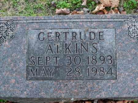 ATKINS, GERTRUDE - Boone County, Arkansas | GERTRUDE ATKINS - Arkansas Gravestone Photos