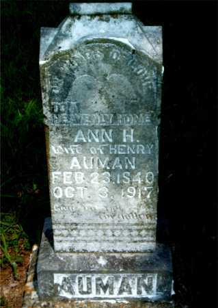 AUMAN, ANN H. - Boone County, Arkansas | ANN H. AUMAN - Arkansas Gravestone Photos