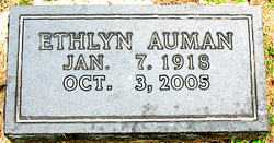 AUMAN, ETHLYN - Boone County, Arkansas | ETHLYN AUMAN - Arkansas Gravestone Photos