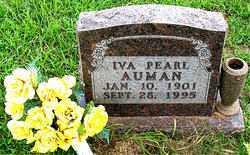 AUMAN, IVA  PEARL - Boone County, Arkansas | IVA  PEARL AUMAN - Arkansas Gravestone Photos