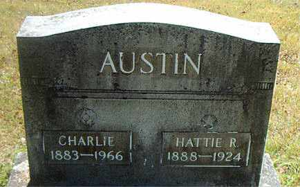 AUSTIN, CHARLIE - Boone County, Arkansas   CHARLIE AUSTIN - Arkansas Gravestone Photos