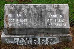 AYERS, WILLIAM D - Boone County, Arkansas | WILLIAM D AYERS - Arkansas Gravestone Photos