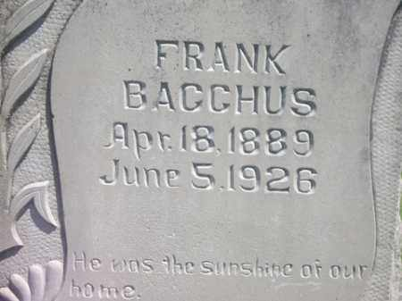 BACCHUS, FRANK - Boone County, Arkansas | FRANK BACCHUS - Arkansas Gravestone Photos
