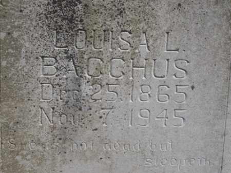 BACCHUS, LOUISA L. - Boone County, Arkansas | LOUISA L. BACCHUS - Arkansas Gravestone Photos