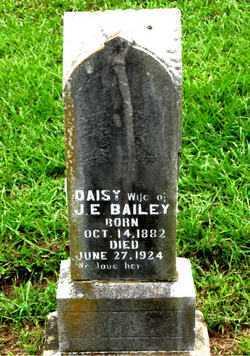 BAILEY, DAISY (INDIVIDUAL STONE) - Boone County, Arkansas   DAISY (INDIVIDUAL STONE) BAILEY - Arkansas Gravestone Photos