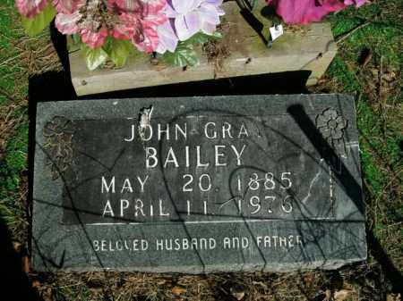 BAILEY, JOHN GRAY - Boone County, Arkansas   JOHN GRAY BAILEY - Arkansas Gravestone Photos