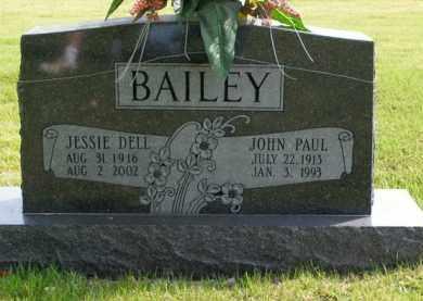 BAILEY, JOHN PAUL - Boone County, Arkansas   JOHN PAUL BAILEY - Arkansas Gravestone Photos