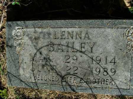 BAILEY, LENNA - Boone County, Arkansas   LENNA BAILEY - Arkansas Gravestone Photos