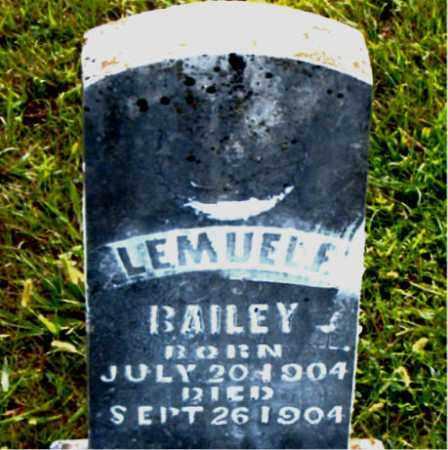 BAILEY, LEMUEL  E. - Boone County, Arkansas | LEMUEL  E. BAILEY - Arkansas Gravestone Photos