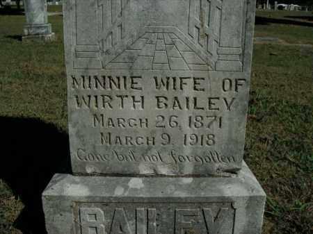 BAILEY, MINNIE - Boone County, Arkansas   MINNIE BAILEY - Arkansas Gravestone Photos