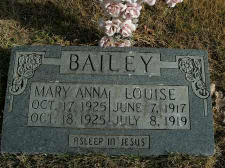BAILEY, MARY ANNA - Boone County, Arkansas | MARY ANNA BAILEY - Arkansas Gravestone Photos