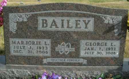 BAILEY, MARJORIE L. - Boone County, Arkansas | MARJORIE L. BAILEY - Arkansas Gravestone Photos