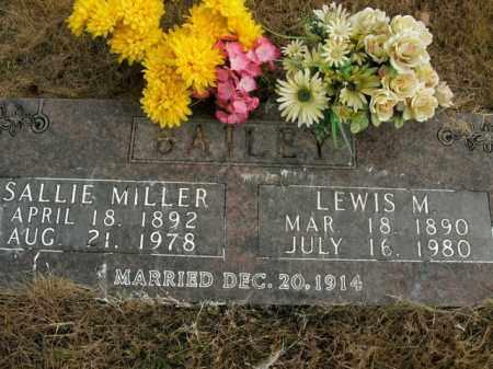 MILLER BAILEY, SALLIE - Boone County, Arkansas | SALLIE MILLER BAILEY - Arkansas Gravestone Photos