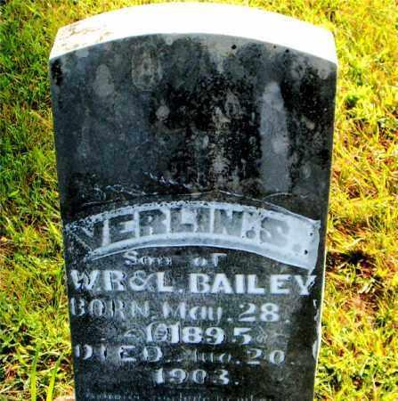 BAILEY, VERLIN  S. - Boone County, Arkansas | VERLIN  S. BAILEY - Arkansas Gravestone Photos