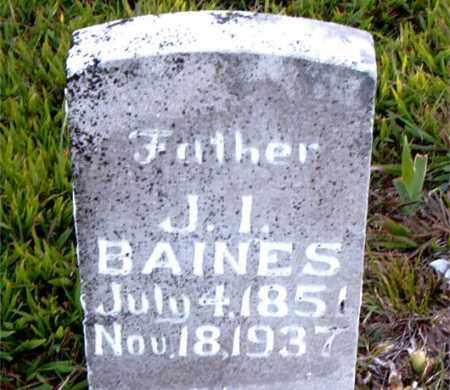 BAINES, JOSHUA IRVING - Boone County, Arkansas | JOSHUA IRVING BAINES - Arkansas Gravestone Photos