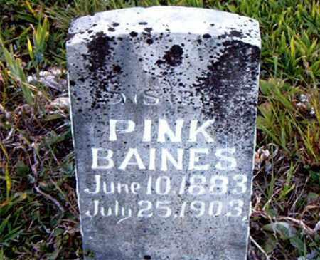 BAINES, PINK - Boone County, Arkansas   PINK BAINES - Arkansas Gravestone Photos