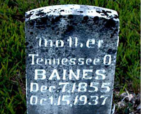 BAINES, TENNESSEE O. - Boone County, Arkansas | TENNESSEE O. BAINES - Arkansas Gravestone Photos