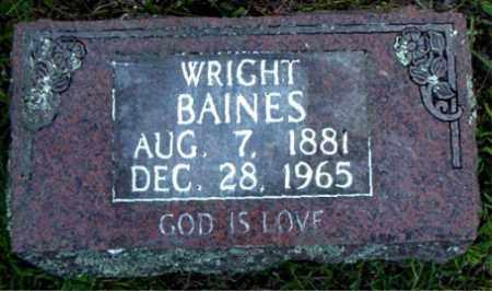 BAINES, WRIGHT - Boone County, Arkansas | WRIGHT BAINES - Arkansas Gravestone Photos