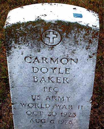 BAKER  (VETERAN WWII), CARMON DOYLE - Boone County, Arkansas | CARMON DOYLE BAKER  (VETERAN WWII) - Arkansas Gravestone Photos