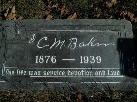 BAKER, C.M. - Boone County, Arkansas | C.M. BAKER - Arkansas Gravestone Photos
