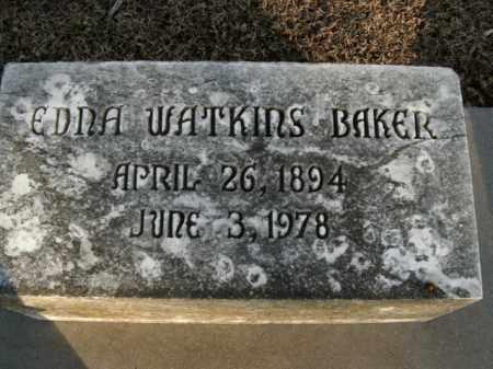 WATKINS BAKER, EDNA - Boone County, Arkansas | EDNA WATKINS BAKER - Arkansas Gravestone Photos