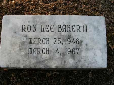 BAKER, III, ROY LEE - Boone County, Arkansas   ROY LEE BAKER, III - Arkansas Gravestone Photos