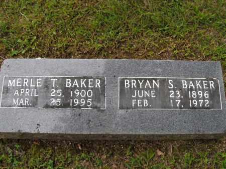 BAKER  (VETERAN WWI), BRYAN SIDNEY - Boone County, Arkansas   BRYAN SIDNEY BAKER  (VETERAN WWI) - Arkansas Gravestone Photos