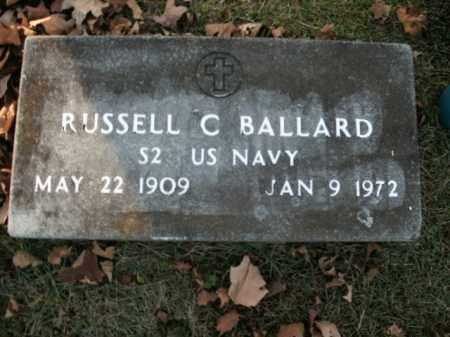 BALLARD  (VETERAN ), RUSSELL C - Boone County, Arkansas   RUSSELL C BALLARD  (VETERAN ) - Arkansas Gravestone Photos