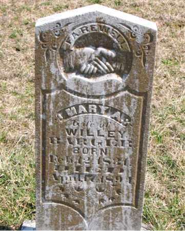 BARGER, MARY A. - Boone County, Arkansas | MARY A. BARGER - Arkansas Gravestone Photos
