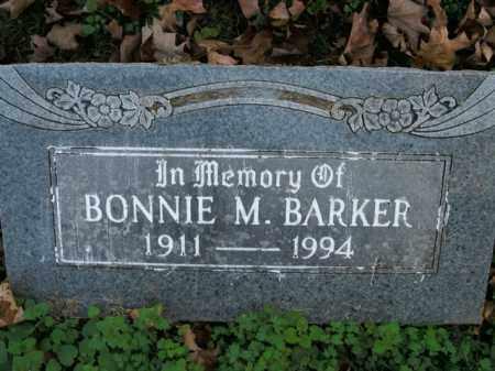 BARKER, BONNIE M. - Boone County, Arkansas   BONNIE M. BARKER - Arkansas Gravestone Photos